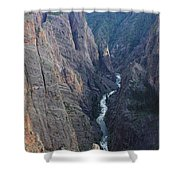 3d10307 Narrows View On North Rim  Shower Curtain