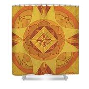 3rd Mandala - Solar Plexus Chakra Shower Curtain