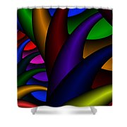 3x1 Abstract 915 Shower Curtain