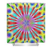 3x1 Abstract 918 Shower Curtain