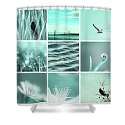 3x3 Aqua Blue Shower Curtain
