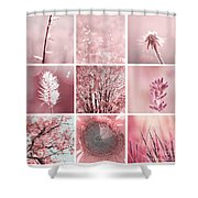 3x3 Pink Shower Curtain