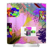 4-18-2015babcdefghijklmnopqrtuvwxyz Shower Curtain
