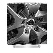 2011 Lotus Euora Wheel Emblem Shower Curtain