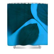3 Leaves Series Shower Curtain