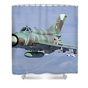 A Bulgarian Air Force Mig-21bis Armed Shower Curtain