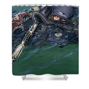 A Navy Seal Combat Swimmer Shower Curtain