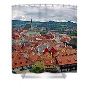 A View Of Cesky Krumlov In The Czech Republic Shower Curtain