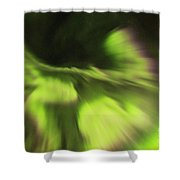 Abstract Aurora Shower Curtain