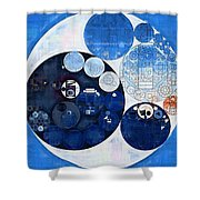 Abstract Painting - Midnight Express Shower Curtain