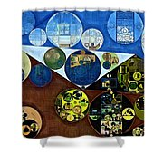 Abstract Painting - Wood Bark Shower Curtain