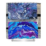 Acrylic Pouring Shower Curtain