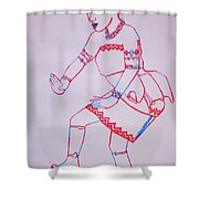Adowa Dance Ghana Shower Curtain