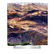 aerial view of Leh ladakh landscape Jammu and Kashmir India Shower Curtain