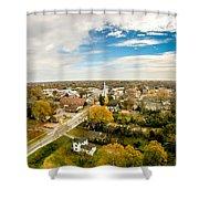 Aerial View Over White Rose City York Soth Carolina Shower Curtain