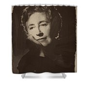 Agatha Christie 1 Shower Curtain
