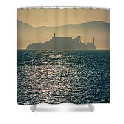 Alcatraz Island Prison San Francisco Bay At Sunset Shower Curtain