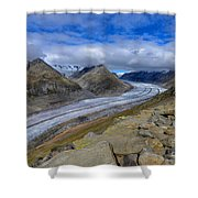Aletsch Glacier, Switzerland Shower Curtain