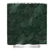 Alien Fluid Metal Shower Curtain