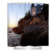 Bass Harbor Head Lighthouse Acadia National Park Shower Curtain