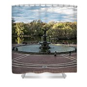 Bethesda Fountain Shower Curtain