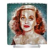 Bette Davis Vintage Hollywood Actress Shower Curtain