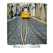 Bica Funicular, Lisbon, Portugal Shower Curtain
