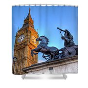 Big Ben And Boadicea Statue  Shower Curtain