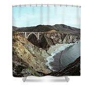 Bixby Creek Bridge Big Sur Photo By Pat Hathaway Shower Curtain