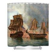Bonhomme Richard, 1779 Shower Curtain