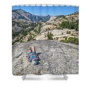 Break After Yosemite Hiking Shower Curtain