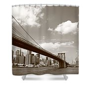 Brooklyn Bridge - New York City Skyline Shower Curtain