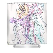 Captured Movements Shower Curtain
