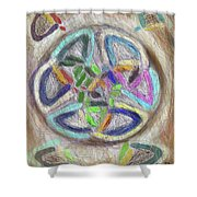 Celtic Layers Shower Curtain