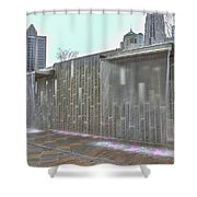 Charlotte Nc Downtown Shower Curtain