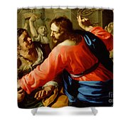 Christ Cleansing The Temple Shower Curtain