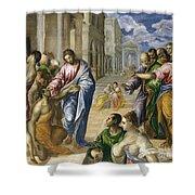 Christ Healing The Blind Shower Curtain