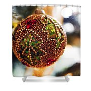 Christmas Tree Decorations Shower Curtain