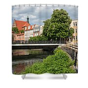 City Of Bydgoszcz In Poland Shower Curtain