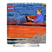Classic Gar Wood Runabout Shower Curtain