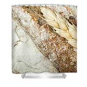 Close Up Bread And Wheat Cereal Crops Shower Curtain by Deyan Georgiev