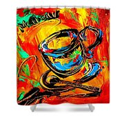 Coffee Cups Shower Curtain