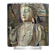 Colorful Indian Diety Figure Shower Curtain