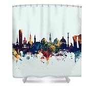 Copenhagen Denmark Skyline Shower Curtain