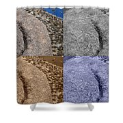 4 Crack Rocks New Mexico Shower Curtain