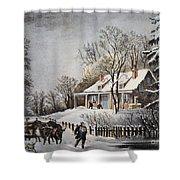 Currier & Ives: Winter Scene Shower Curtain