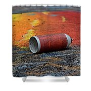 Discarded Spray Paint Can Shower Curtain