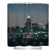 Early Morning In Charlotte Ncorth Carolina January 2018 Shower Curtain