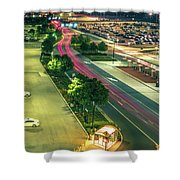 Early Morning Scenes At San Jose California International Airpor Shower Curtain