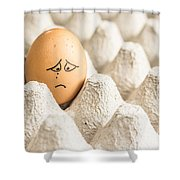 Eggs Have Feelings Too Shower Curtain